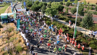 photo peloton marathon de Rennes