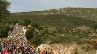 photo de peloton course Marseille-Cassis