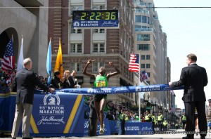 2011 Boston Marathon Caroline Kilel