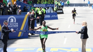 2011 Boston Marathon Geoffrey Mutai
