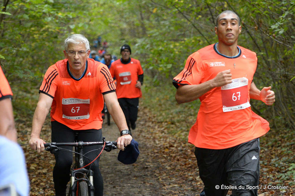 La run and bike solidaire (Paris, bois de Boulogne  ~ Gym Bois De Boulogne