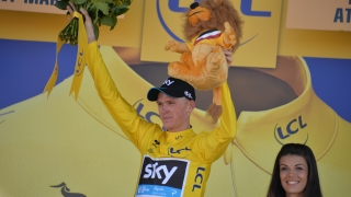 Christopher Froome (SKY), maillot jaune