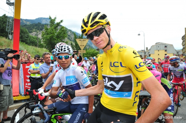 Nairo Quintana et Chris Froome (Tour de France 2015)