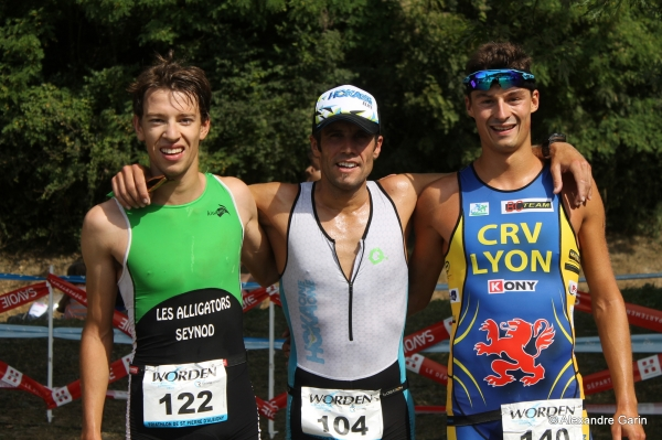 Podium hommes du triathlon S